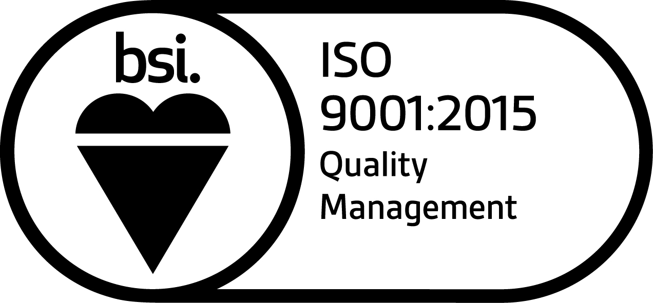 BSI Accredited to ISO9001:2015